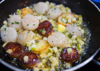Pan fried Scallops